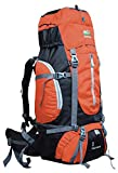 Hiker's way 50 Ltrs Orange Internal Frame Rucksack Backpacks Travel Bag Hiking Bag