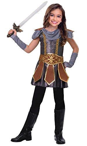 Mädchen niedlich Warrior Römischer Gladiator Grichischer Kämpfer International historisch TV Buch Film Kostüm Kleid Outfit 5-12 Jahre - 5-6 years (Römische Kleid Mädchen)