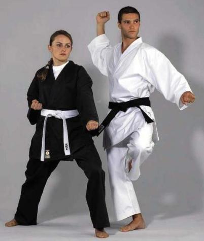 Kwon - dobok per taekwondo e karate, kimono per arti marziali e sport da combattimento, nero , 170