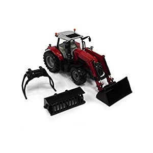 TOMY Britains - Bri43082 - Vehículo Miniatura - Modelo para la Escala - Massey Ferguson 6616 Tractor con Cargador - Escala 1/32