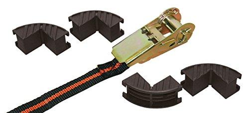 Kerbl 37104 Ratschenzurrgurtset mit 4 Kantenschutz, 25 mm x 5 m, 122 / 245kg