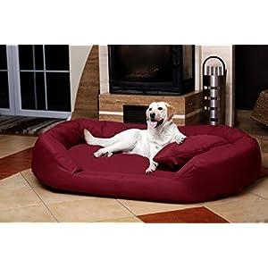 tierlando® SV5-04 Orthopädisches Hundebett Sammy VISCO ROBUST Gr. XXL 140 cm Dunkelrot Bordeaux