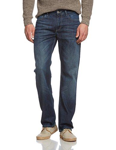 Cross Jeans Herren Relaxed Jeanshose New Antonio, Gr. W38/L38, Blau (True Dark Blue Used 050) (Five-pocket Weites Bein Jeans)
