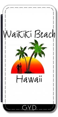 Leder Flip Case Tasche Hülle für Sony Xperia Z3 - Waikiki Beach Hawaii by loki1982