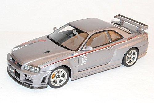 Nissan-Skyline-GT-R-S-Tune-R34-S1-Grau-Coupe-1998-2002-77358-118-AutoArt-Modell-Auto-mit-oder-ohne-individiuellem-Wunschkennzeichen