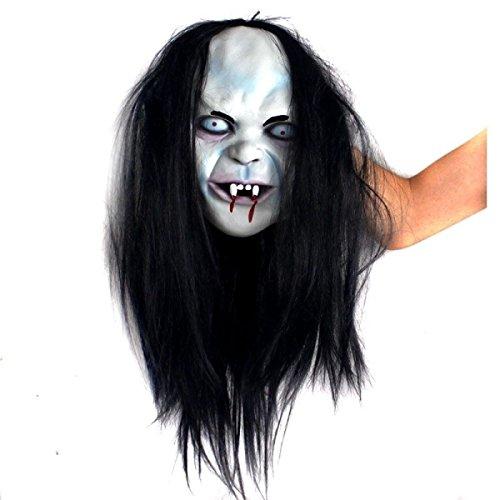 Nihiug Halloween Horror Fluch Sadako Ghost Sadako Horror Hood Peek Ein Boo Ghost Halloween Baum Wrap CycleMore Latex Gruselige Baum Wrap,A