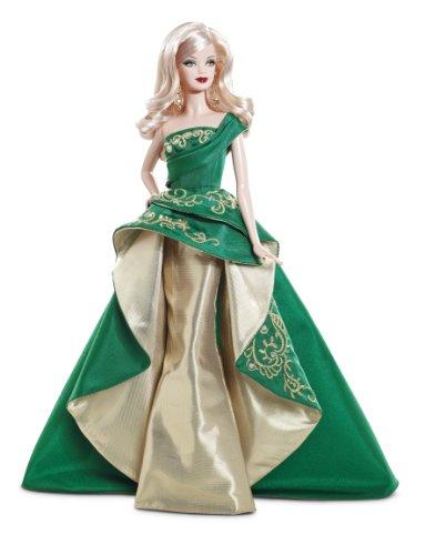 Mattel t7914 - bambola, barbie felice natale 2011
