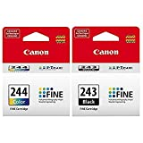 CANON PG-243 Black + CL-244 Color Ink Cartridge Kit