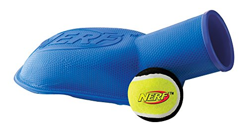 Nerf perro pelota de tenis de vp6629e Stomper–Canon bola, azul/rojo, 30,5cm