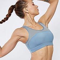Baycheey Costura con Malla Sujetador de los Deportes de Doble Cara de Nylon Correr: Elegante y de Moda de la Yoga Volver a Prueba de Golpes Sujetador de Secado rápido Transpirable