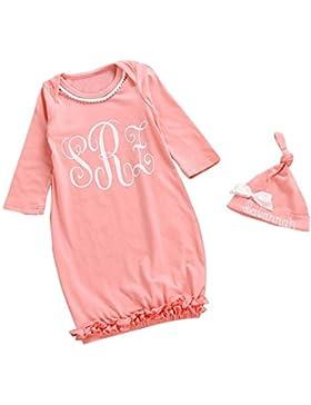 Baby Schlafsack EUZeo neugeborenes der Kind Zicklein Baby Mädchen lange Hülse Pyjama