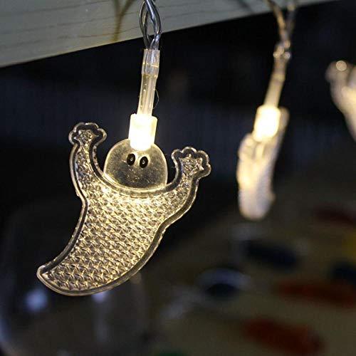 1 Meter 10 Lichter drei Farbe Halloween dekorative Lichter String Kürbis Ghost, Spinne Bat Batterie Box Licht 3 (Ohne Nägel Orange Halloween)