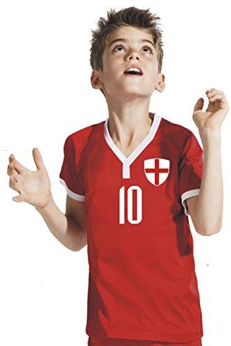 Aprom-Sports England Kinder Trikot - Hose Stutzen inkl. Druck Wunschname + Nr. RRR WM 2018 (152)