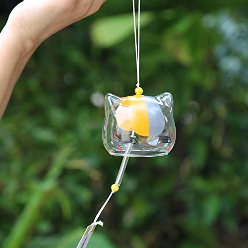 fengling-linyiming-01 2019Glas Katze Muster Windspiel Glocke Japenese Hausgarten Hängen Dekor DIY Geschenk, Vereinigte Staaten