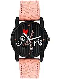 Relish Analog Eiffel Tower Black Dial Watches for Girls & Women RE-L065PT