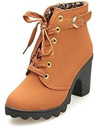 Para es Y Mujer Complementos Zapatos Amarillo Botas Amazon Iadx7Ba