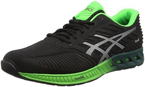 asics-fuzex-zapatillas-de-running-para-hombre-negro-black-silver-green-gecko-425-eu