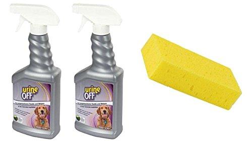 Cajou 1 Liter Geruchsentferner / Fleckenentferner / Urinentferner mit Reinigungsschwamm