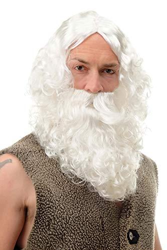 Wig me up ® - parrucca & barba carnevale babbo natale santa claus 6095a+b