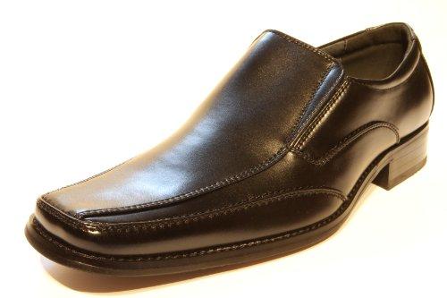 Herren Business Schuhe Guggen Mountain Laufsohle aus echtem Leder Schwarz