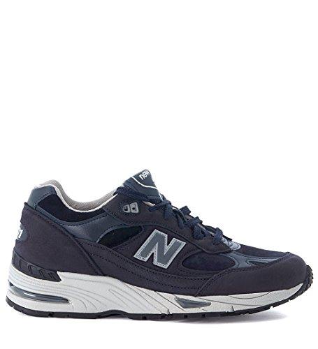 Sneaker New Balance 991 in pelle e suede blu