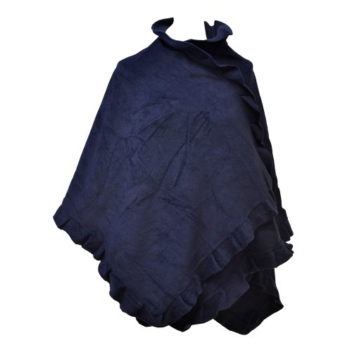 Toutacoo, Poncho Cappa Pile - Donna 03-Blu