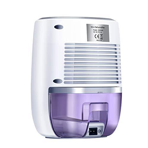 LATITOP Luftentfeuchter mit 500ml Wassertank kompakter und tragbarer Mini Bautrockner gegen Feuchtigkeit in der Küche, im Schlafzimmer, Wohnwagen, Büro und Garage (150 Quadratfuß)