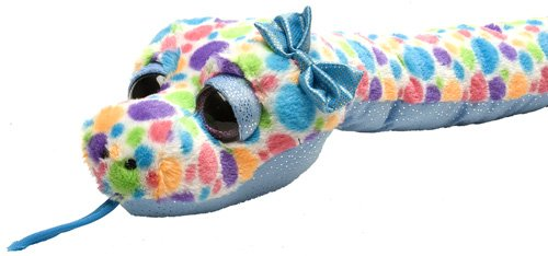 Wild Republic- Serpent Sweet and Sassy pointilée Polka Dot, Peluche, 137 cm, 16753, Multicolore