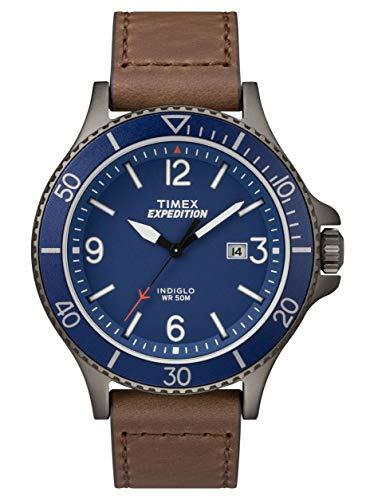 5947cd0271ae Timex Reloj Análogo clásico para Hombre de Cuarzo con Correa en Cuero  TW4B10700