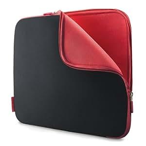 Belkin Neopren-Schutzhüllen für Netbooks (geeignet für Netbooks bis zu 25,9 cm (10,2 Zoll)) kohlenschwarz/weinrot