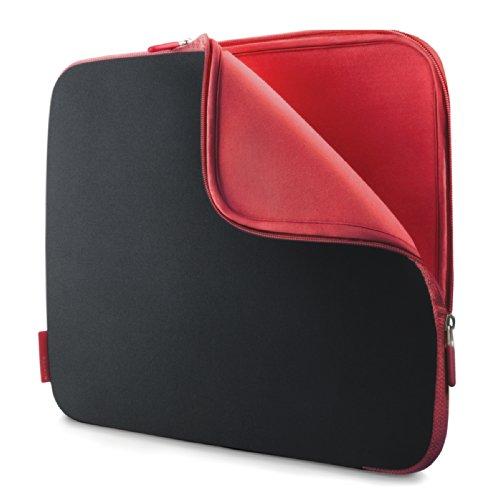 Belkin Neopren Notebook-Schutzhülle für 39,6 cm (15,6 Zoll) Notebooks, kohlenschwarz/weinrot