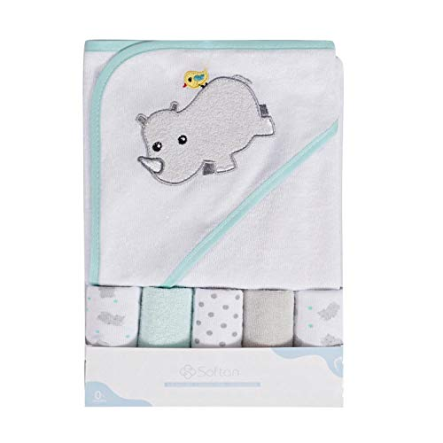 Toalla baño capucha toallitas bebé, Extra