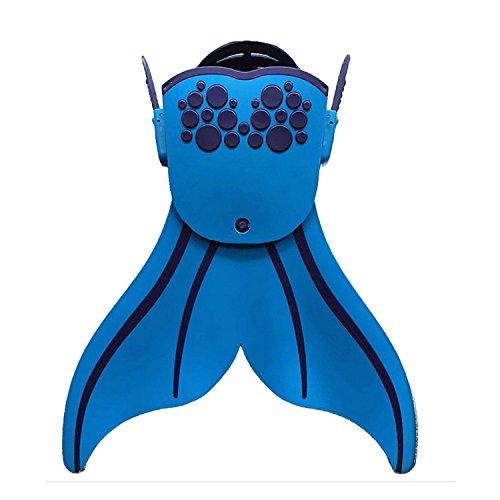 Preisvergleich Produktbild DAN SPEED Meerjungfrau Flossen für Kinder Schwimmtraining Schwimmenflossen (blau)