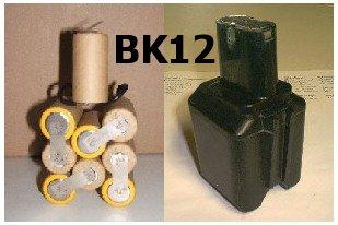 Akkupack passend für AEG P12, Accu 2000 System BK12 12V 2,0 Ah Nicd zum Selbsteinbau