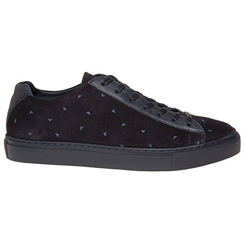 Armani Jeans Logo Homme Baskets Mode Bleu blue