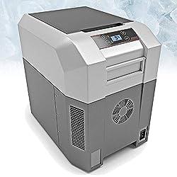 BLUEFIN Réfrigérateur Congélateur Portable à Compression (24/33/42/60/80L) Mini Refroidisseur avec Adaptateur AC/DC | Camping, Voyage, Pique-nique | Léger, Compact (24 litres d'argent)
