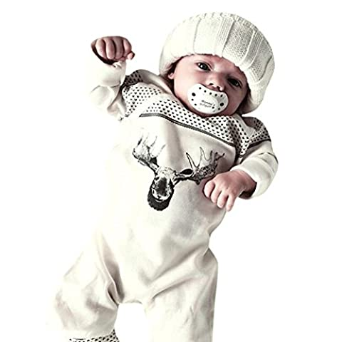 Cerf Costume Outfit - Letter New Baby Girl Boy Deer Romper