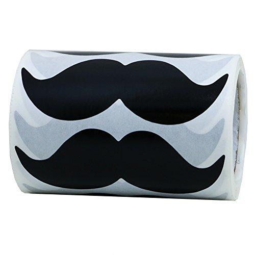 hybsk 8cm x 4cm schwarz Schnurrbart Aufkleber-Schnurrbart Partyzubehör Total 200Pro Rolle