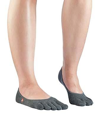 Knitido Track & Trail Zero | Zehen-Füßlinge für Sport mit atmungsaktiver Coolmax®-Faser, Größe:35-38, Farbe:Anthrazit
