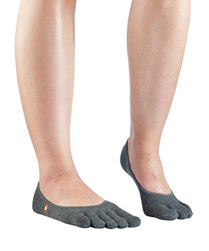 Knitido Zehen-Füßlinge Track & Trail Zero, atmungsaktive No-Show Sport-Zehensocken für Damen und Herren, Größe:35-38, Farbe:Anthrazit