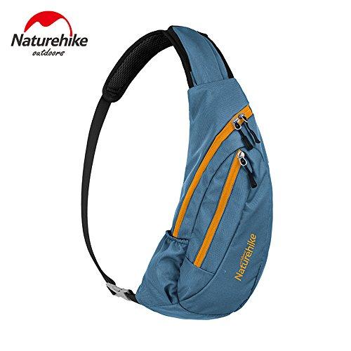 Outdoor Radfahren Sling Bag Leicht Brusttasche Schulter Rucksack Unisex Modisch Freizeit Chest Bag new blue
