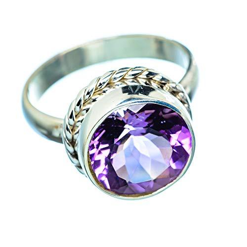 Amethyst, Amethyst 925 Sterling Silber Ring 9