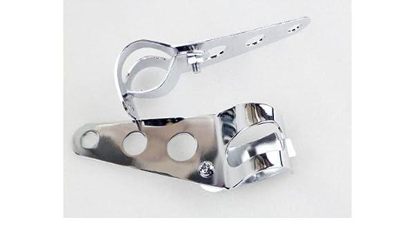 Chrome Headlight Mount Bracket Fork Ear For Motorcycle Bobber Cafe Racer 28-38mm