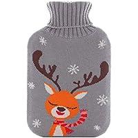 Wärmflaschen, Naturkautschuk und weicher Strickschutz aus Baumwolle, um warm und bequem zu bleiben (größe : M... preisvergleich bei billige-tabletten.eu
