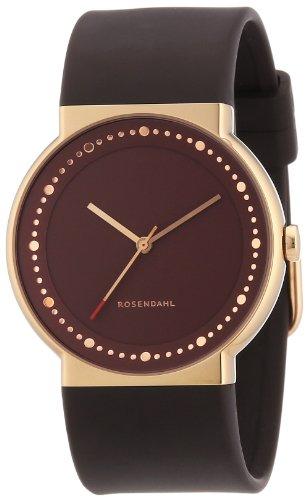 Rosendahl 43254 - Reloj de mujer de cuarzo, correa de goma color marrón