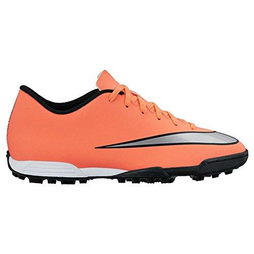 Nike Mercurial Vortex Ii Tf, Chaussures de Football Compétition Homme Amarillo / Plateado / Verde (Brght Mng / Mtllc Slvr-Hypr Trq)
