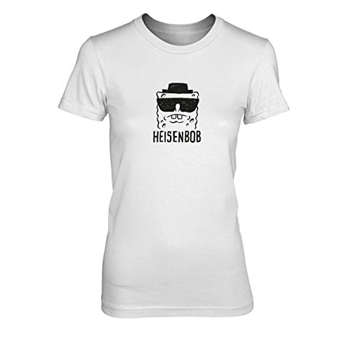 Heisenbob - Damen T-Shirt, Größe: XL, Farbe: weiß (Spongebob Schwammkopf Dvd-box)