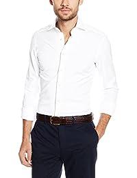 Hackett London Poplin Single Cuff, Camisa para Hombre