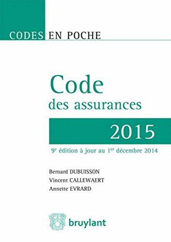 Code des assurances 2015