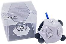 Broloyalty-Fidget Dice II 12 lados Cubo en forma de diamante Alivia el estrés y la ansiedad para niños y adultos